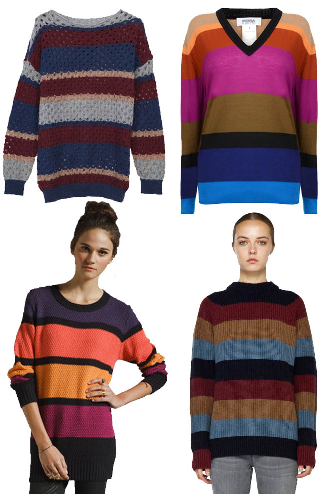 5b30c7fe0e Sonia by Sonia Rykiel Block Sweater with V Neck. 3. Minkpink Primary  Education Crew Neck Stripe Tunic Jumper. 4. Marc Jacobs Stripe Sweater in  Multi.